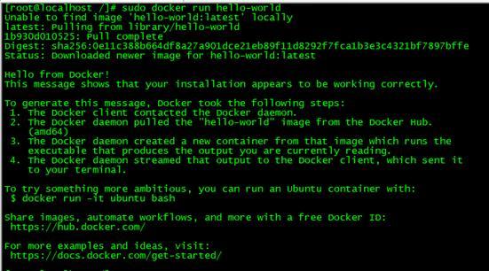 Docker安装成功提示信息