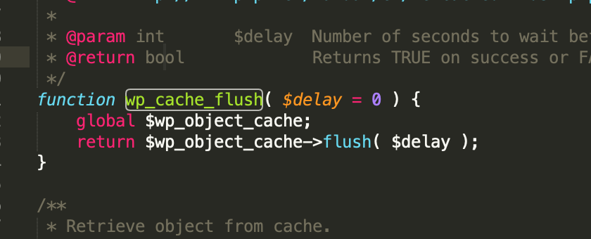 object-cache 手动更新